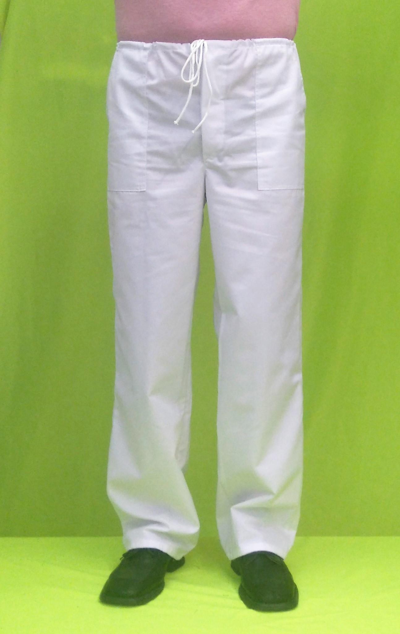 b03d44732945 Pánske kuchárske nohavice biele