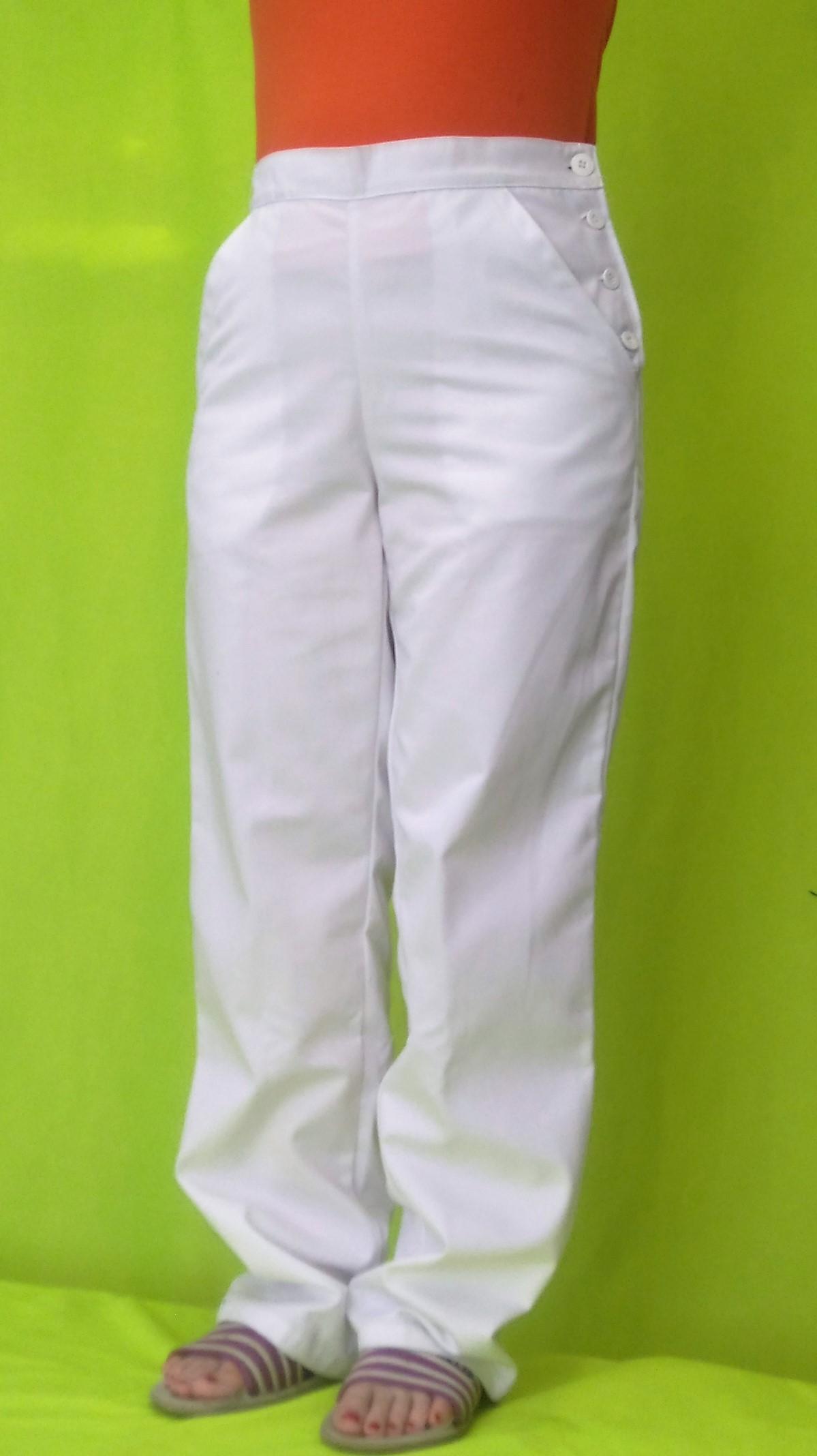 cb589b5355eb Dámske kuchárske nohavice biele